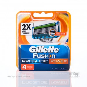تیغ یدک ژیلت مدل Fusion Proglide Power بسته 4 عددی