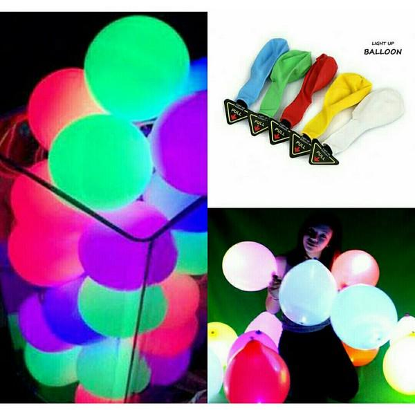 بادکنک رنگی چراغ دار LED-تصویر اصلی