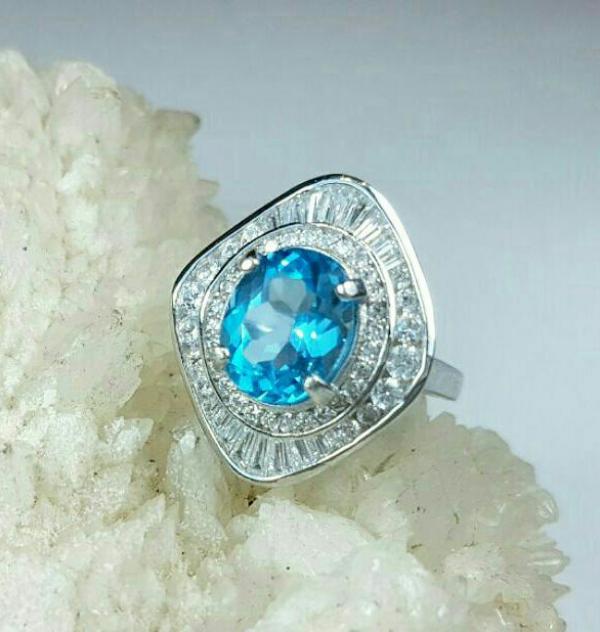 انگشتر توپاز آبی-تصویر اصلی