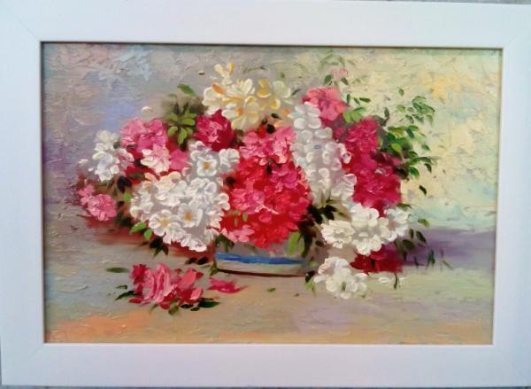 تابلو نقاشی گلدان گل-تصویر اصلی