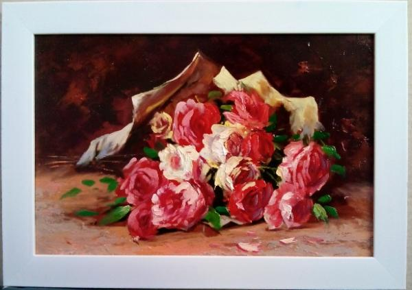 تابلو نقاشی دسته گل-تصویر اصلی