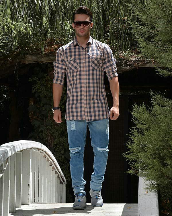 پیراهن مردانه چهار خانه مدل 8020-تصویر اصلی