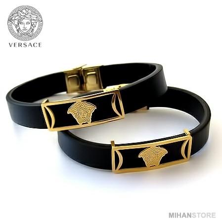 دستبند چرم طرح ورساچه-تصویر اصلی