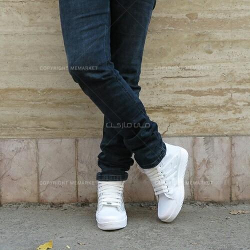 كفش ساق دار سفید NIKE AIR-تصویر اصلی