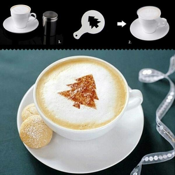 شابلون تزئین قهوه-تصویر اصلی