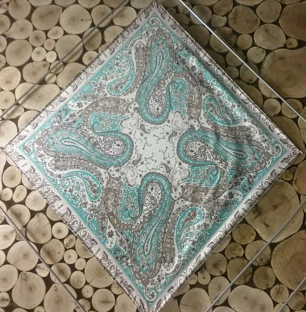 روسری ساتن طرح ترمه-تصویر اصلی