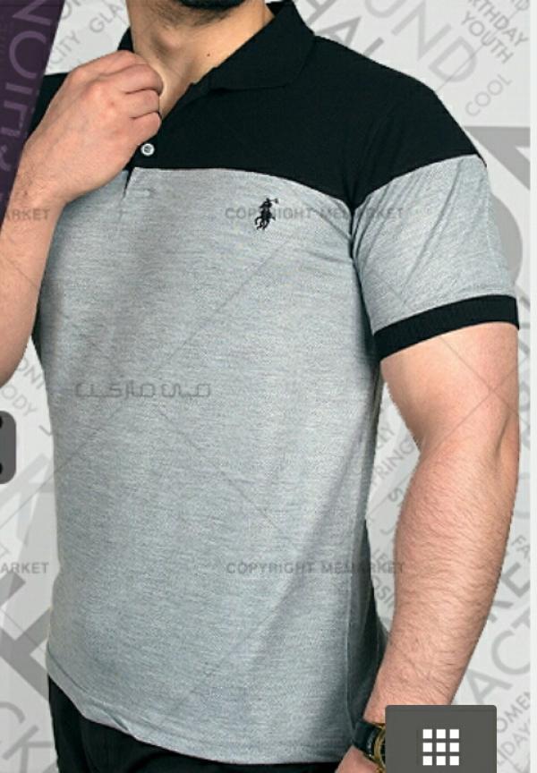 تیشرت مردانه RALPH (مشكی-طوسی)(تخفیف فوق العاده)-تصویر اصلی