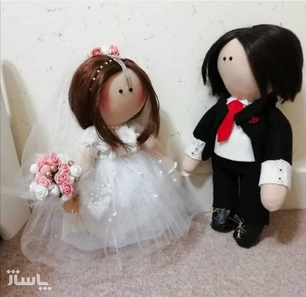 عروسک روسی عروس و داماد سایز بزرگ-تصویر اصلی