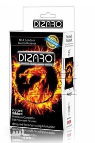 کاندوم دیزارو 12 تایی خاردار و شیاردار گرم کننده آتشی DIZARO Fiery-تصویر اصلی
