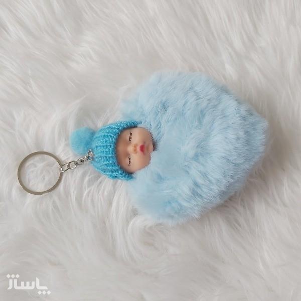 جاکلیدی زنانه مدل عروسکی بیبی Baby قلبی-تصویر اصلی