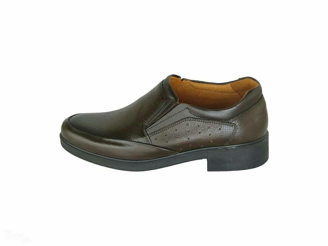کفش چرمی مجلسی طبی مدل کامرا رنگ قهوه ای-تصویر اصلی