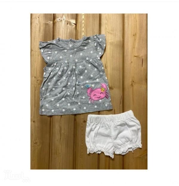 تیشرت و شلوارک کارترز دخترانه-تصویر اصلی