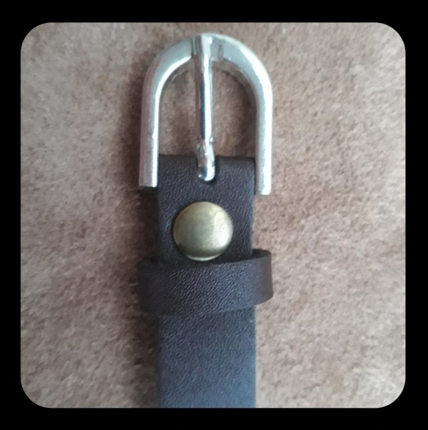 دستبند چرم گاوی پلاک استیل-تصویر اصلی