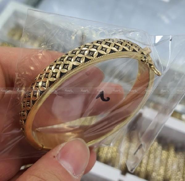 دستبند سیاه قلم طرح طلا-تصویر اصلی