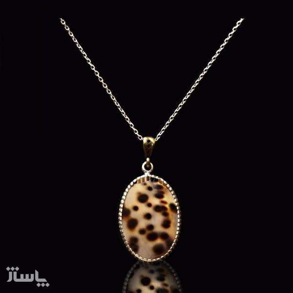 گردنبند نقره سنگ صدف ( برند MASSIA )-تصویر اصلی