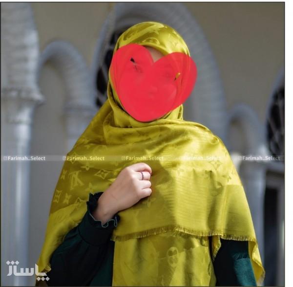 روسری نخ ابریشم ژاکارد-تصویر اصلی