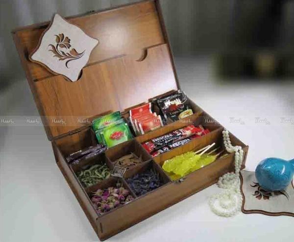 جعبه پذیرایی چای کیسه ای و دمنوش لوکس باکس کد LB10-تصویر اصلی