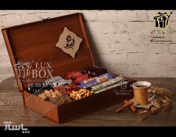 جعبه دمنوش جعبه پذیرایی جعبه چوبی لوکس باکس LB10-تصویر اصلی
