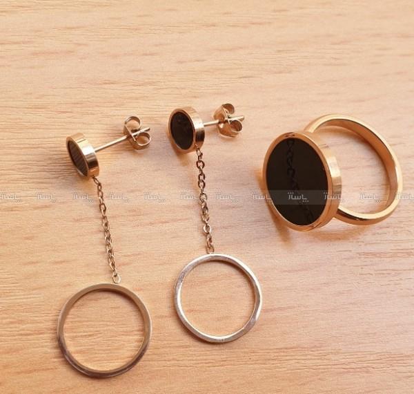 گوشواره و انگشتر استیل-تصویر اصلی