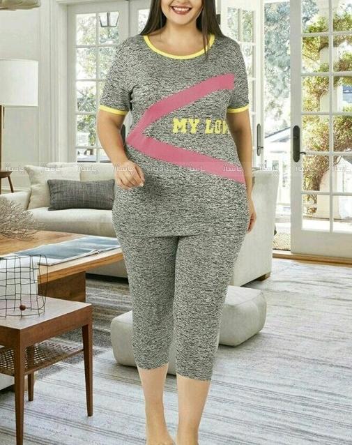 تیشرت شلوارک سایز بزرگ miss tiko-تصویر اصلی