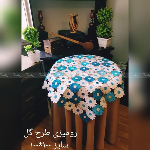 رومیزی طرح گل دارای رنگ بندی-تصویر اصلی