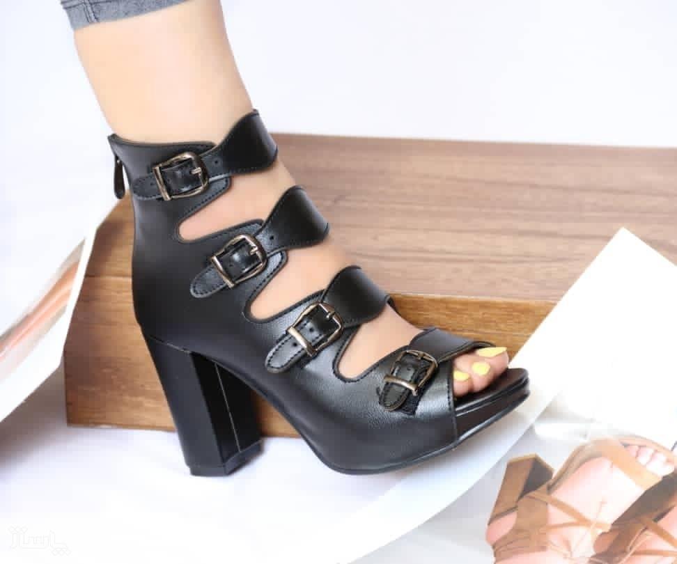کفش چرم پاشنه دار-تصویر اصلی