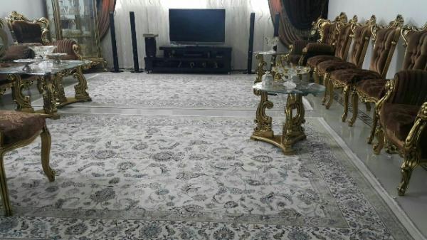 فرش ۶ متری ماشینی طرح نقشه دستباف نائین-تصویر اصلی