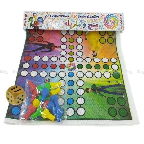 بازی فکری طرح منچ همراه با تاس چوبی-تصویر اصلی