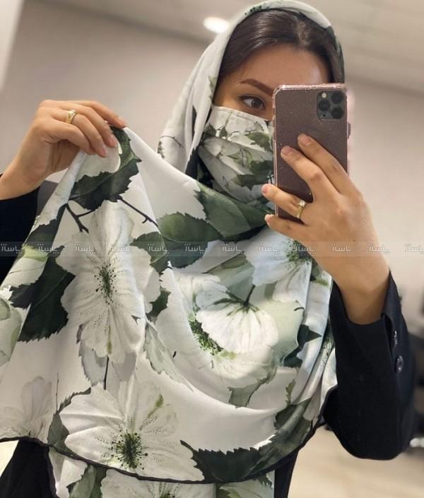 ماسک و روسری شکوفه-تصویر اصلی