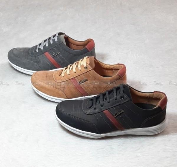 کفش مردانه چرم طبیعی مدل پازل-تصویر اصلی