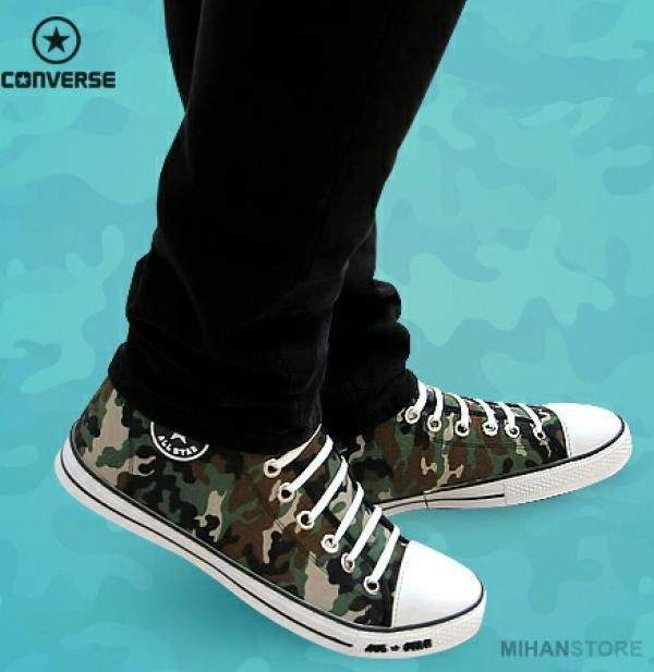 کفش مردانه آل استار طرح ارتشی-تصویر اصلی