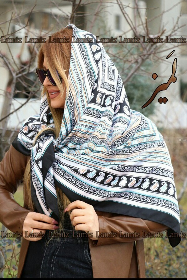 روسری تویل طرح ترمه ریز-تصویر اصلی