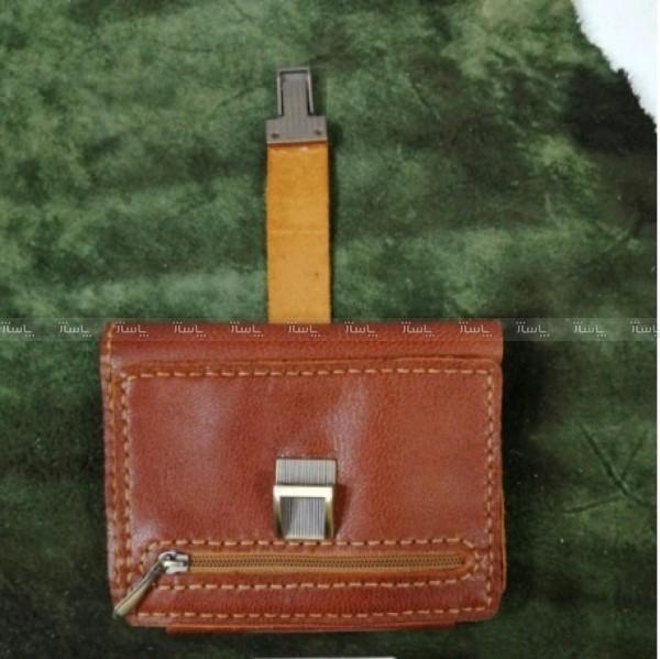 کیف پول چرم طبیعی کمری سه لت-تصویر اصلی