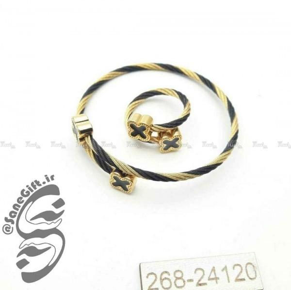 ست دستبند انگشتر سیمی فنری-تصویر اصلی