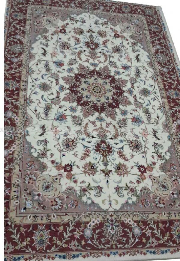 قالی دستبافت طرح شجاعی گل ابریشم-تصویر اصلی