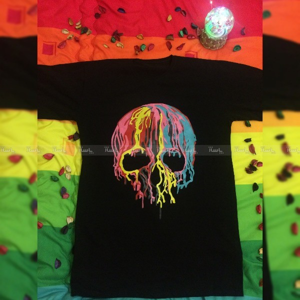 تیشرت اسکلت رنگی-تصویر اصلی