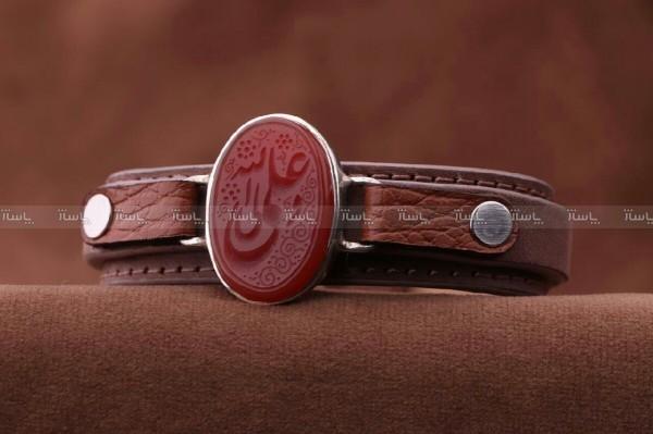 دستبند عقیق نقش علی ولی الله-تصویر اصلی