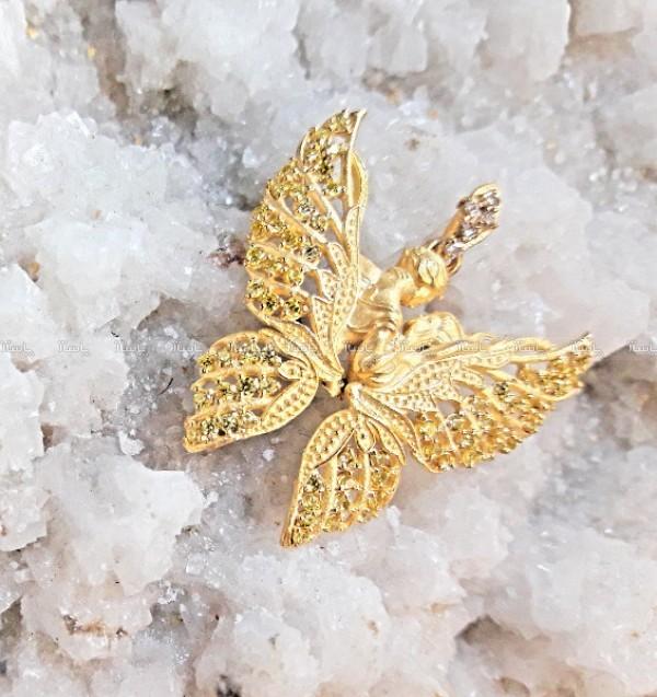 گردنبند طلا الیزابت طرح پروانه کد 701-تصویر اصلی