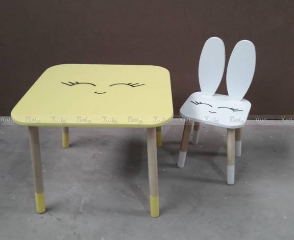 میز و صندلی خرگوشی با پلک و دهن-تصویر اصلی