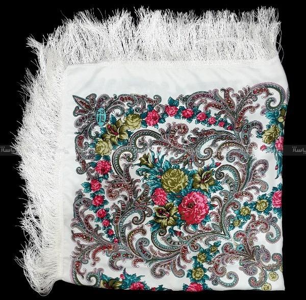 روسری درجه یک نخی زنانه ریشه دار مدل ترکمن-تصویر اصلی