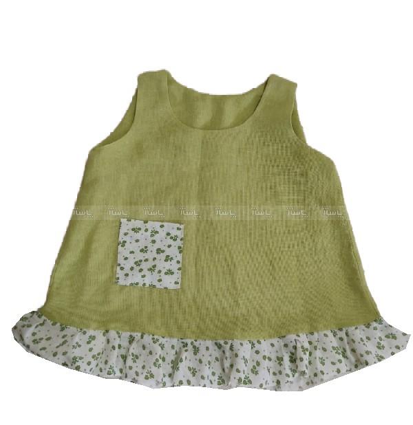 پیراهن دخترانه سبز-تصویر اصلی