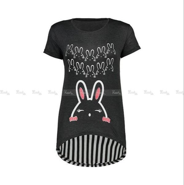 تی شرت زنانه طرح خرگوش کد R120-تصویر اصلی