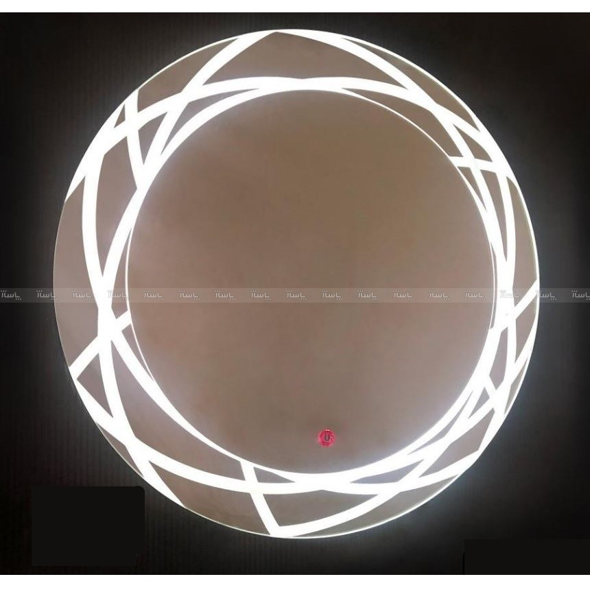آینه تاچ دایره LED طرحدار کد 017-تصویر اصلی
