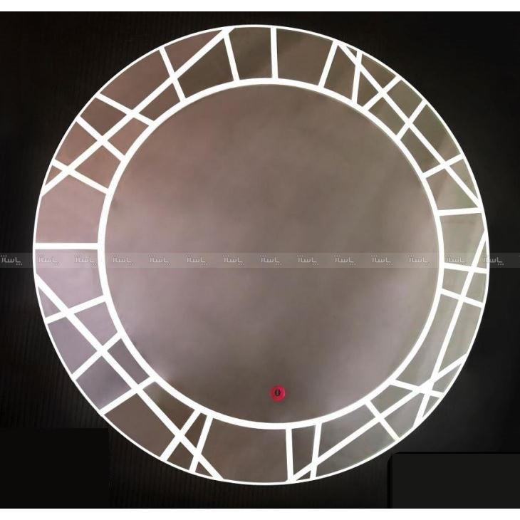 آینه تاچ دایره LED طرحدار کد 016-تصویر اصلی