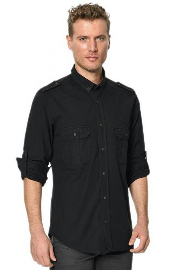 پیراهن مردانه مدل TEMA رنگ مشکی برند لی کوپر-تصویر اصلی