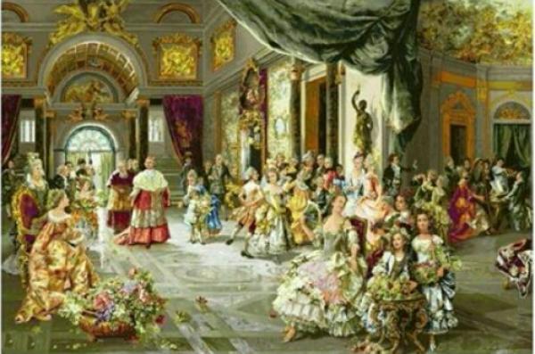 تابلوفرش دستبافت طرح عروسی پاپ-تصویر اصلی