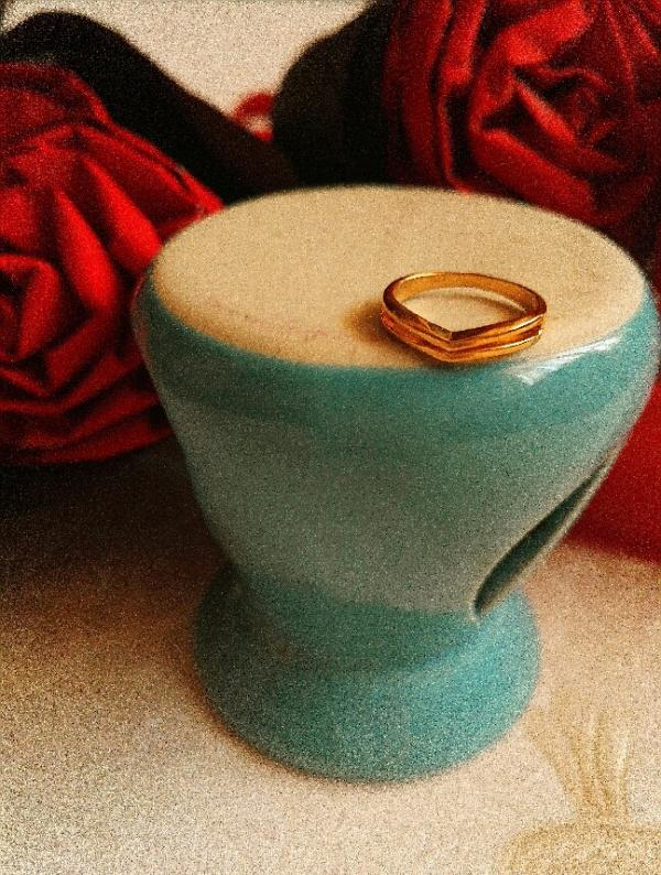 بند انگشتی استیل طلایی-تصویر اصلی