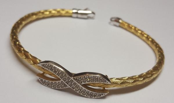 دستبند النگویی طلا ۱۸ عیار کم اجرت-تصویر اصلی