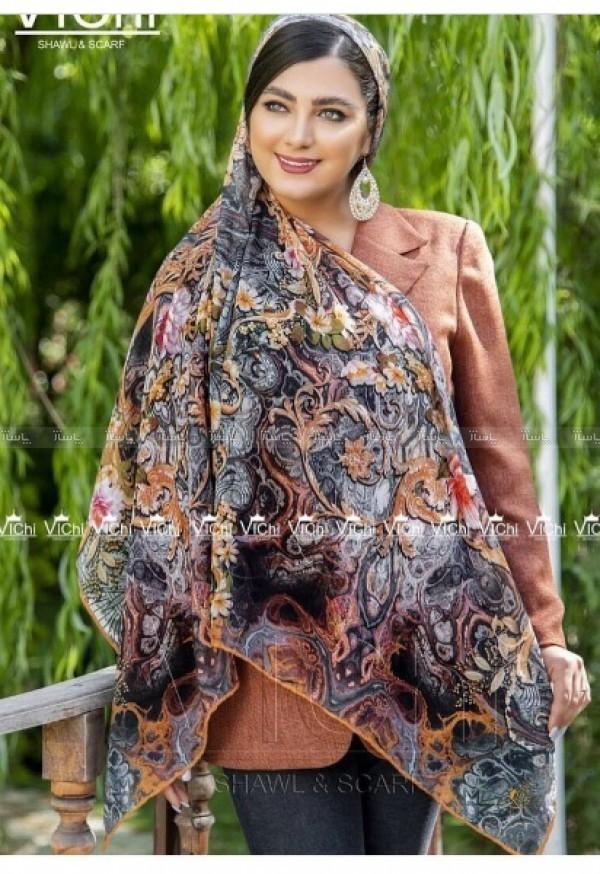 روسری نخی ترک دور دست دوز تابستانه-تصویر اصلی