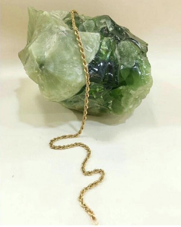 زنجیر طنابی بلند طرح طلا-تصویر اصلی